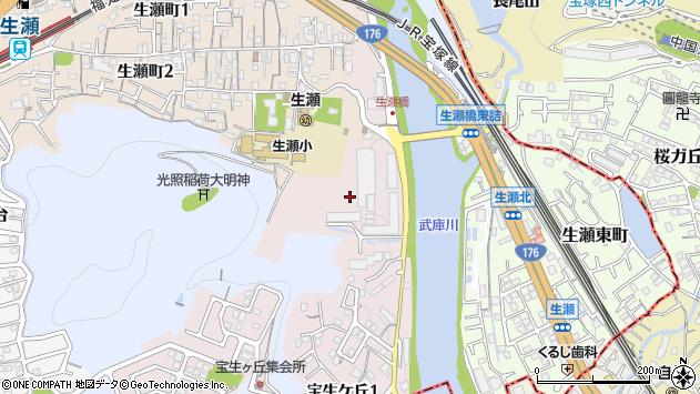 〒669-1104 兵庫県西宮市生瀬武庫川町の地図