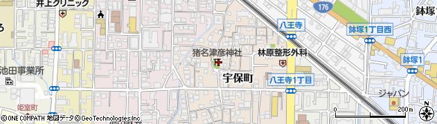 猪名津彦神社周辺の地図