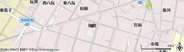 愛知県西尾市一色町池田(弥惣)周辺の地図