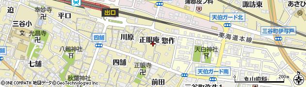 愛知県蒲郡市三谷町周辺の地図
