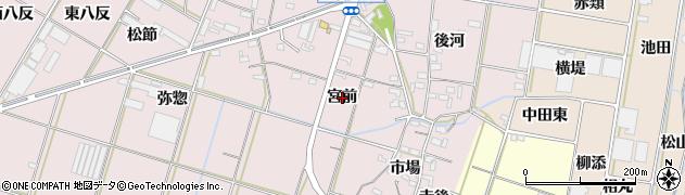 愛知県西尾市一色町池田(宮前)周辺の地図