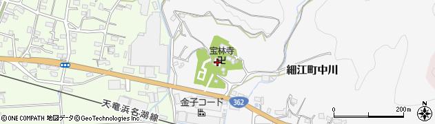 宝林寺周辺の地図