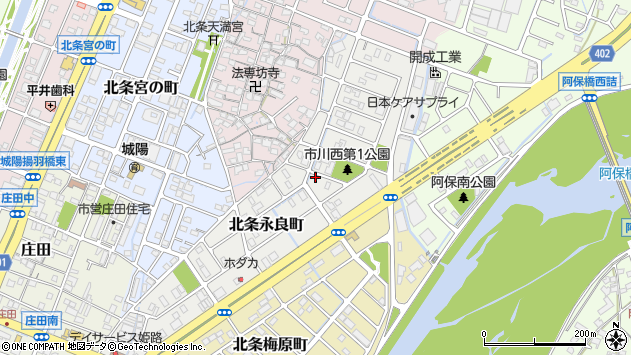 〒670-0946 兵庫県姫路市北条永良町の地図
