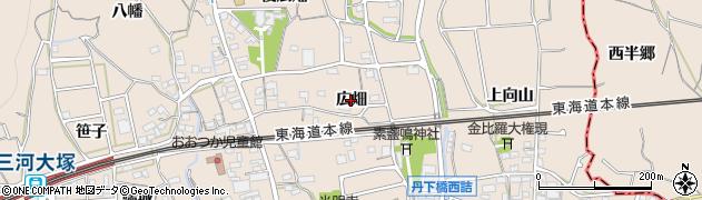 愛知県蒲郡市大塚町(広畑)周辺の地図