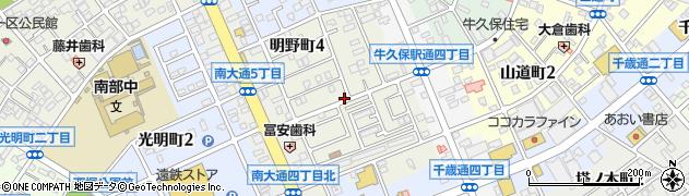 愛知県豊川市明野町周辺の地図