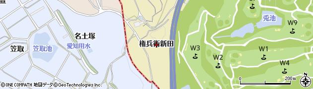 愛知県武豊町(知多郡)冨貴(権兵衛新田)周辺の地図