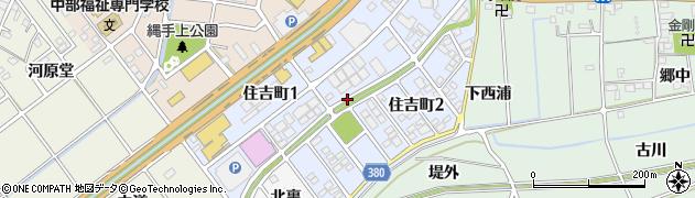 愛知県豊川市住吉町周辺の地図