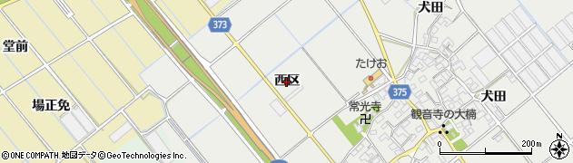 愛知県豊川市御津町上佐脇(西区)周辺の地図
