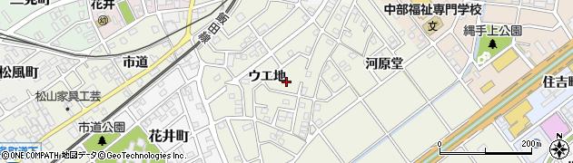 愛知県豊川市古宿町(ウエ地)周辺の地図