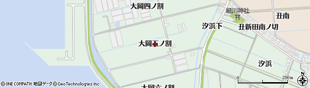 愛知県西尾市一色町細川(大岡五ノ割)周辺の地図