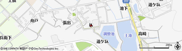 愛知県西尾市吉良町友国(圦)周辺の地図