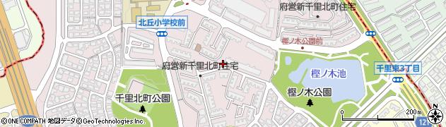 府営新千里北町住宅周辺の地図