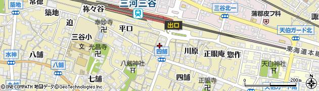 愛知県蒲郡市三谷町(上野)周辺の地図