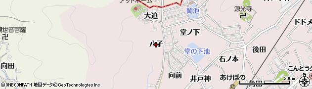 愛知県蒲郡市鹿島町(八子)周辺の地図