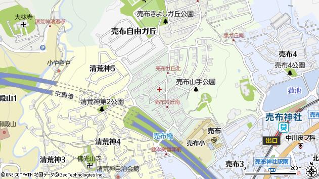 〒665-0853 兵庫県宝塚市売布ガ丘の地図
