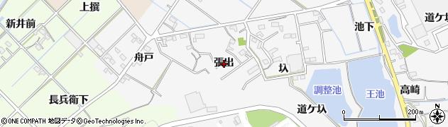 愛知県西尾市吉良町友国(張出)周辺の地図