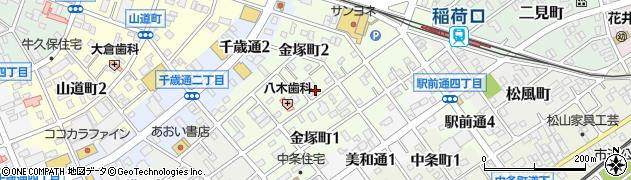 愛知県豊川市金塚町周辺の地図