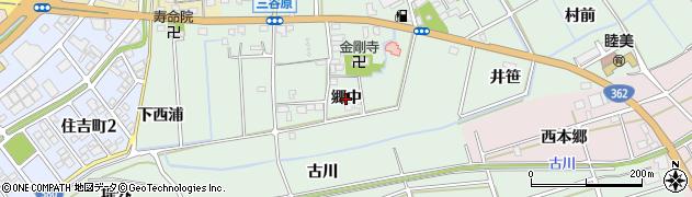 愛知県豊川市三谷原町(郷中)周辺の地図