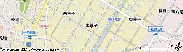 愛知県西尾市一色町一色(未荒子)周辺の地図