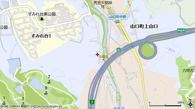 〒651-1421 兵庫県西宮市山口町上山口の地図