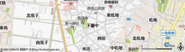 愛知県西尾市一色町赤羽(下郷中)周辺の地図