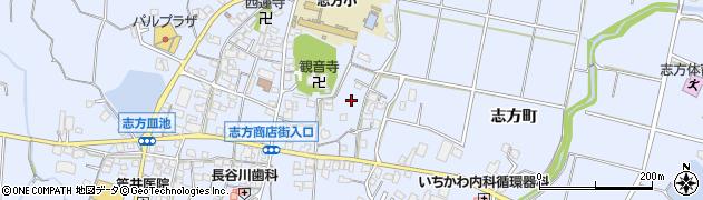 兵庫県加古川市志方町(志方町)周辺の地図