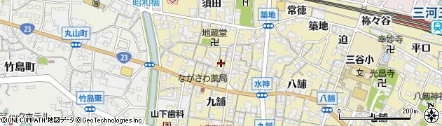 愛知県蒲郡市三谷町(十舗)周辺の地図