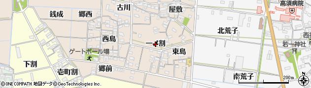 愛知県西尾市一色町養ケ島(一ノ割)周辺の地図