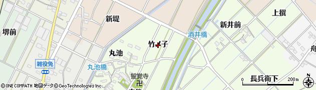 愛知県西尾市吉良町酒井(竹ノ子)周辺の地図