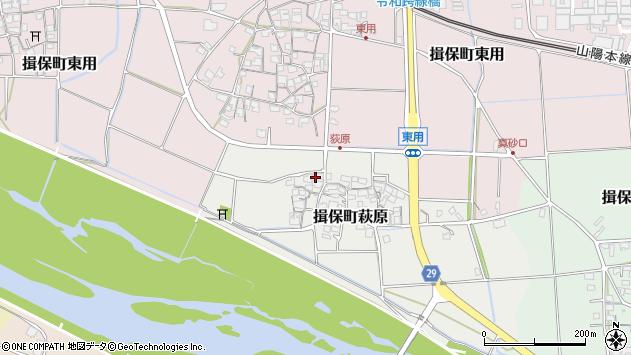 〒679-4145 兵庫県たつの市揖保町萩原の地図