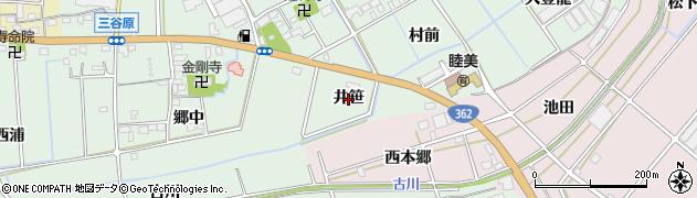 愛知県豊川市三谷原町(井笹)周辺の地図