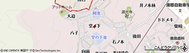 愛知県蒲郡市鹿島町(堂ノ下)周辺の地図