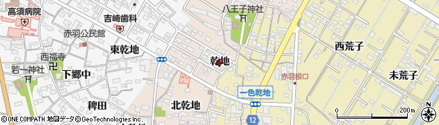 愛知県西尾市一色町味浜(乾地)周辺の地図