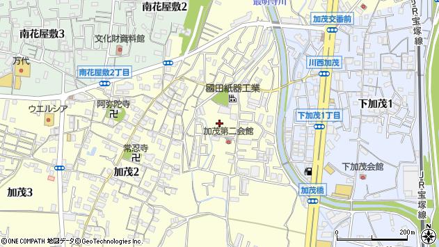 〒666-0025 兵庫県川西市加茂の地図