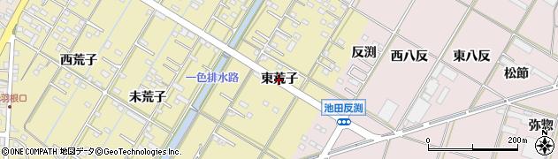 愛知県西尾市一色町一色(東荒子)周辺の地図