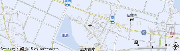 兵庫県加古川市志方町(原)周辺の地図