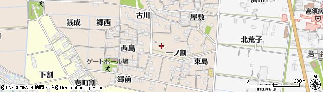 愛知県西尾市一色町養ケ島周辺の地図