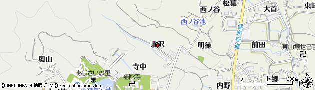 愛知県蒲郡市金平町(北沢)周辺の地図