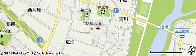 愛知県豊川市三上町(下屋敷)周辺の地図