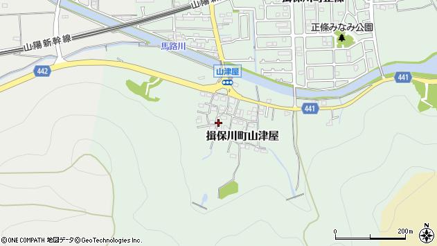 〒671-1631 兵庫県たつの市揖保川町山津屋の地図