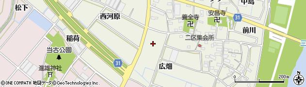 愛知県豊川市三上町(中長)周辺の地図