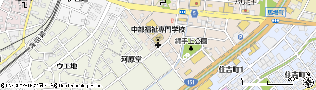 愛知県豊川市中条町(上石畑)周辺の地図
