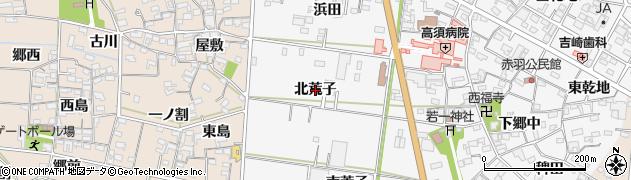 愛知県西尾市一色町赤羽(北荒子)周辺の地図