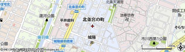 兵庫県姫路市北条宮の町周辺の地図