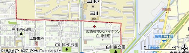 東茨木ハイタウン白川高層住宅周辺の地図