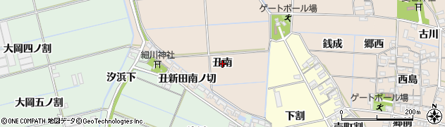 愛知県西尾市一色町治明(丑南)周辺の地図