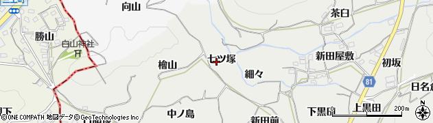 愛知県豊橋市石巻本町(七ツ塚)周辺の地図