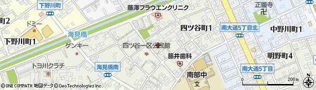 愛知県豊川市四ツ谷町周辺の地図