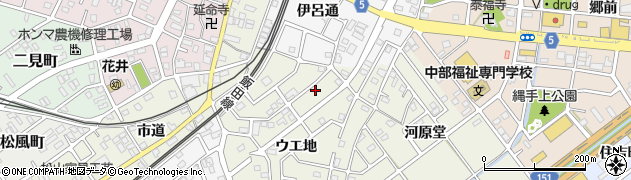 愛知県豊川市古宿町周辺の地図