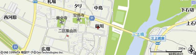 愛知県豊川市三上町(前川)周辺の地図